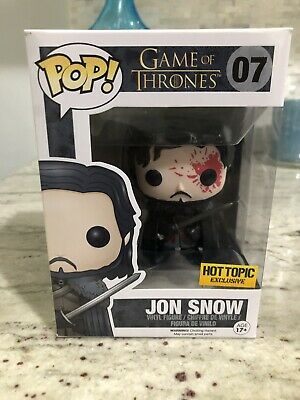 Funko Pop #07 Game Of Thrones Hot Topic Exclusive Bloody Jon Snow Vaulted