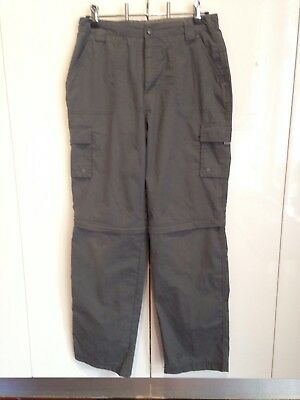 MOUNTAIN WAREHOUSE Child's Size 13 Youth grey ZIP OFF PANTS. Hiking travel.