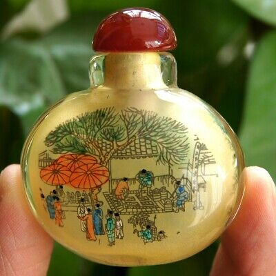 Chinese Riverside Scene at Qingming Festival Inside painted Snuff Bottle
