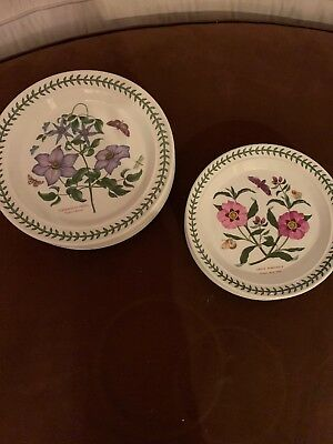 "12 Pc Portmeirion Botanic Garden  (6) 10-1/2"" Dinner  (6) Salad  c1996 NWT!"