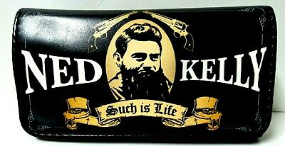 Quality Ned Kelly  Tobacco Pouch Black