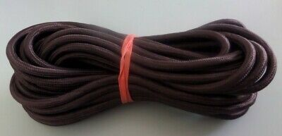 Vintage Radio  and appliance 3  core power cable  10 meters - dark brown  !