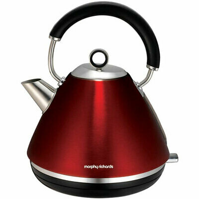 Morphy Richards Accents Pyramid Cordless 1.5L Kettle in Metallic Red 102004