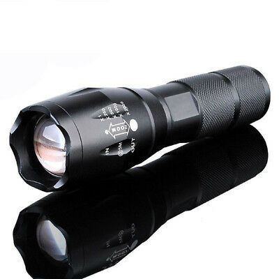 10000LM Flashlight T6 XML Zoomable Tactical Military LED 18650 Torch Light @3