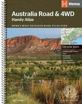 NEW Australia Road and 4WD : Handy Atlas B5 By Hema Maps Spiral Ringed Book