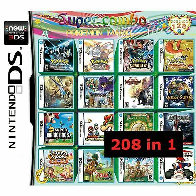 208 in 1 Video Game Cartridge Multigame For Nintendo DS NDS NDSL NDSi 2DS 3DS XL