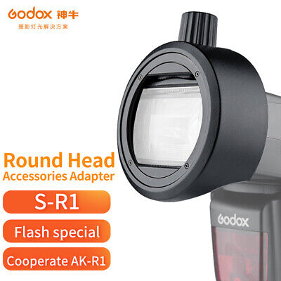 Godox Round Head Accessories Adapter S-R1 For Speedlite Compatible With AK-R1