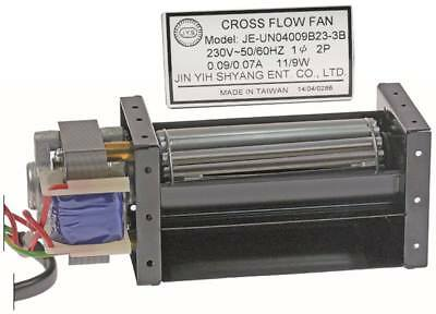 Cross Flow Fan Ø 40mm Warehouse Rubber 11/9w Motor Left Walze 40mm x 90mm