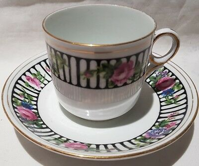 Antique Grimwades Atlas China Trademark Porcelain Cup & Saucer c1919-24 England