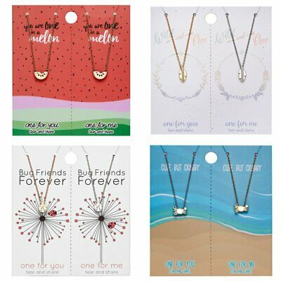 2Pcs Fashion Watermelon Leaves Pendant Card Necklace Couple Lovers Jewellery Hot