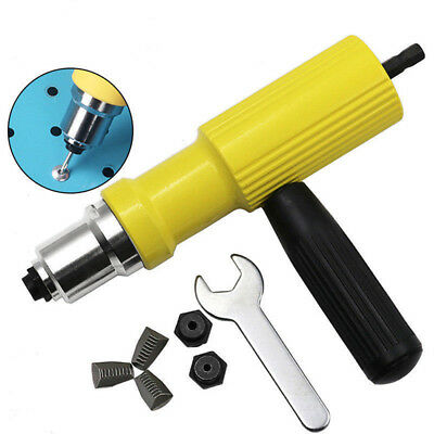Rivet Gun Adaptor For Cordless Drill Electric Nut Riveting Tool Riveter Inser SQ