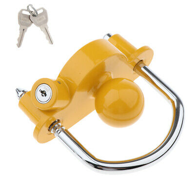 Universal Coupler Lock Master Trailer Hitch Ball Security Protect Steel RV