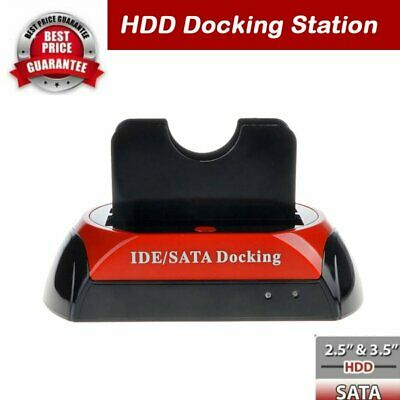 2.5″ 3.5″ Dual Hard Drive HDD Docking Station USB Dock Card Reader IDE SATA