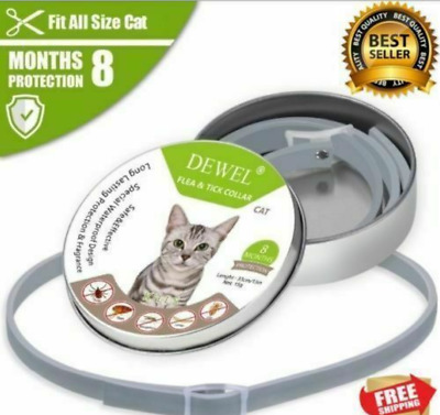 US DEWEL 33CM Collar CATS Tick And Flea Treatment 8 Months Protection