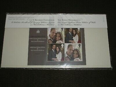 2011 GB Stamps PRINCE WILLIAM ROYAL WEDDING Presentation PACK #M20 MINT M/SHEET