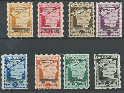 [K0279] San Marino 1943 airmail good set very fine MNH stamps value $35