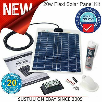 Solar Technology PV Logic 20w Flexible Panel Kit & 10a Control │ Stpvfrt020