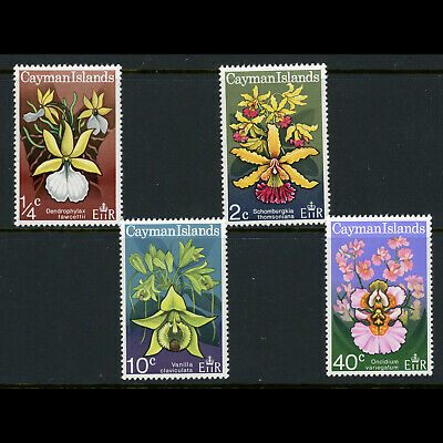 CAYMAN ISLANDS 1971 Orchids. Flowers. SG 298-301. Mint Never Hinged. (W0789)