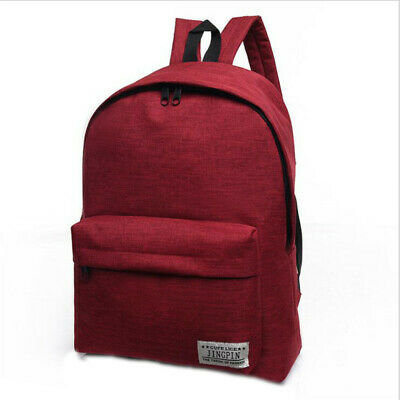 Anti-theft Unisex Canvas Backpack Multi-color Notebook Zipper Shoulder Bags 6A