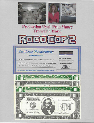 RoboCop 2 Movie Prop Money Used in The 1990 Movie RoboCop 2 * Ready To Frame