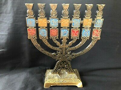 antique / vintage Menohra  with way of the cross .  Jerusalem - Holy land