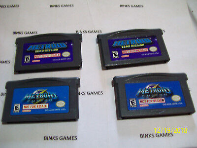 Metroid Zero Mission AND Metroid Fusion Set (Game Boy Advance)  AUTHENTIC NFR