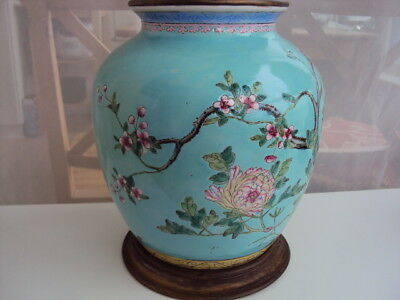 Vase Table Lamp in Late Qing Dynasty
