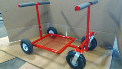 Go Kart Stand RED Powdercoat Collapsible Kart Stand Rolling Go Kart Stand  *NEW*