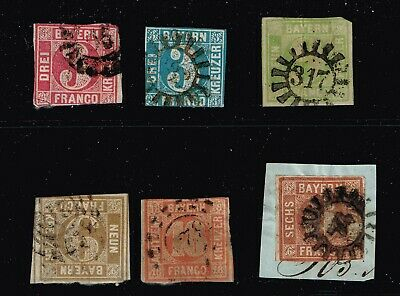 Germany Stamp Bavaria Bayern Stamps Collection Lot #2