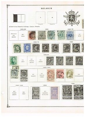 Belgium - 1850 to 1920 Stamps  (31) on Scott Album pages