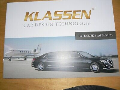 Geneva 2019 Klassen Mercedes Extended and armored brochure Prospekt