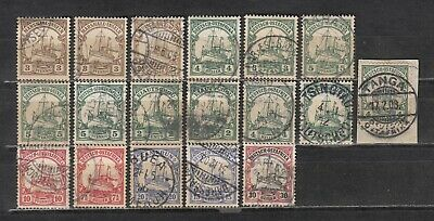 German Colonies Lot of Kaiser Yacht Stamps 1900-1915 used