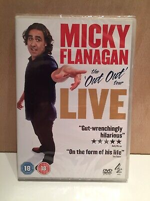 🆕 Sealed DVD - Micky Flanagan THE OUT OUT TOUR LIVE + Bonus Material - Region 2