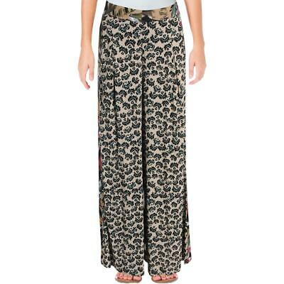69e8257c34 Free People Womens In The Mix Black Printed Palazzo Wide Leg Pants XS BHFO  7494