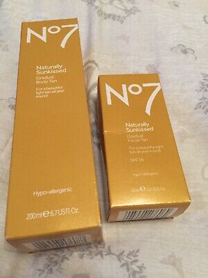 No7 Naturally Sunkissed Gradual Body and Facial Tan Brand New