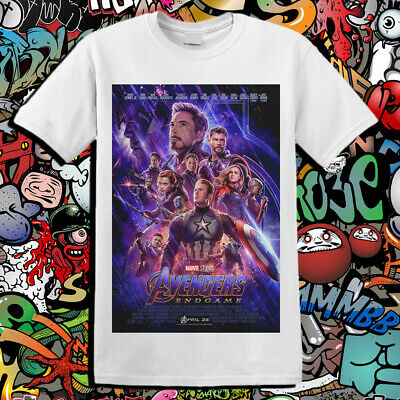 Avengers Infinity War End Game Poster Marvel Universe Unisex T-Shirt T30