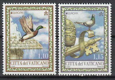 VATICAN 2019 EUROPA CEPT NATIONAL BIRDS .Set 2 stamps MNH (PRE-ORDER)