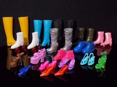Barbie Doll 17 Pairs Lot Boots,sandals, Sneakers Shoes Different Sizes