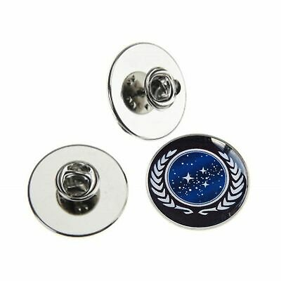 STAR TREK UNITED FEDERATION OF PLANETS METAL PIN BADGE WITH 25mm LOGO