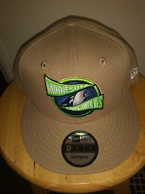 buy online f7206 33d87 Minnesota Timberwolves New Era Cap Tan Beige Team Banner Adult Snapback Cap  NWT