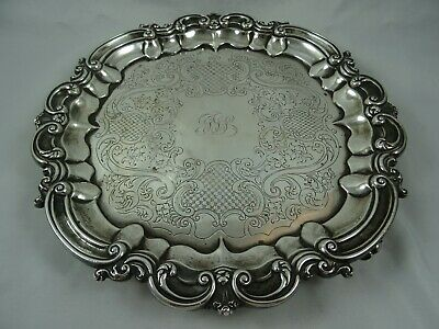 MAGNIFICENT, WILLIAM IV solid silver SALVER , 1830, 855gm