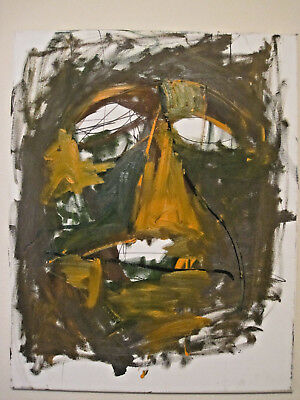 Modern Mask Abstract Michael McGinnis Original Oil Painting