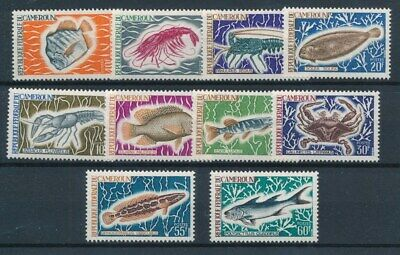 [81127] Cameroon 1968 Fishes good set Very Fine MNH stamps