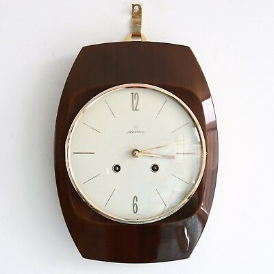 German JUNGHANS Vintage WALL Clock RARE LOUDSPEAKER CHIME! SPECIALTY 1950s! TOP!
