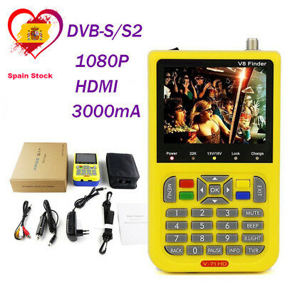 Digital Satellite Finder V8 Finder FTA DVB-S2 High Definition Full 1080P MPEG-4