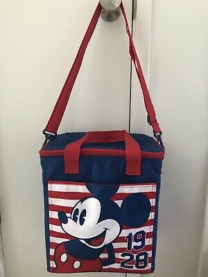 56e211f97b1 Disney Mickey Mouse Americana Insulated Food   Drink Vertical Cooler Bag NWT