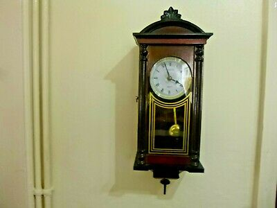 Collectable * President : Cased : Wall Clock With Pendulum * Good Working Order