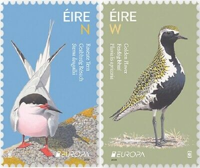 IRELAND 2019 EUROPA CEPT NATIONAL BIRDS .Set 2 stamps MNH (PRE-ORDER)