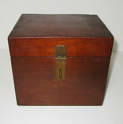 Beautiful Antique Mahogany Wooden Box With Compartment in the Lid