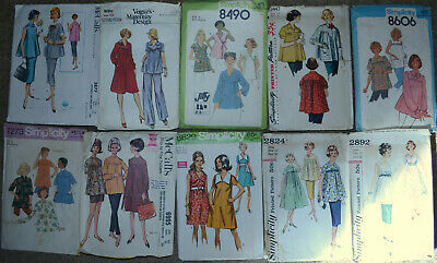 "1950's - 1980's Simplicity Womens Maternity Sewing Patterns 32"" Bust U-Pick"